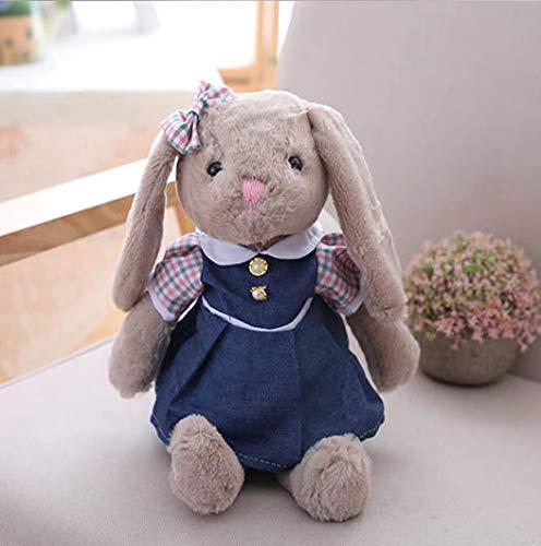 (WATOP Stuffed Animals - Teddy Bears | Cute Grey Rabbit Plush Toy Bunny with Skirt Doll Stuffed Soft Cartoon Animal Doll Kids Girls Birthday)