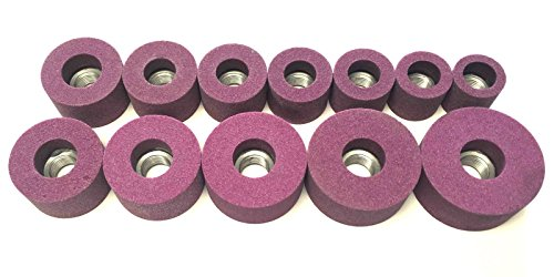 Beam Equipment & Supplies 12 Piece Ruby 80 Grit Valve Seat Grinder Stone Set for Black & Decker 1 1/8-2 1/2 Made in the ()