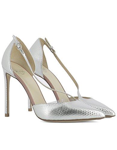 FRANCESCO Cuir RUSSO Femme Talons Chaussures Argent R1P156N101 À gI6gnPr