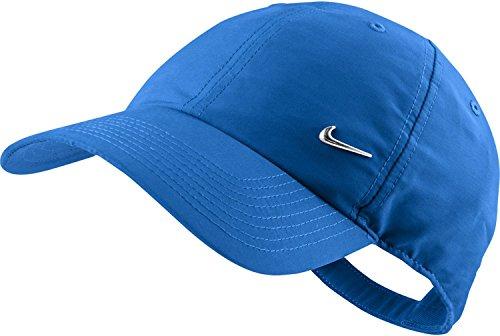 Nike Swoosh Casquette réglable Bleu roi/argenté métallique