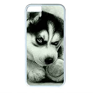 Cool Husky Sakuraelieechyan White Sides Hard Shell Case for Iphone 6 Plus (5.5 inch)