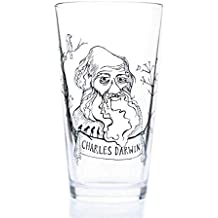 Cognitive Surplus Heroes of Science - Charles Darwin Beer Pint Glass