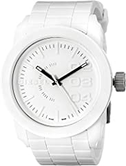 With signature details, like the intentionally random, oversized numbers, this white out watch is the highlight of your look.