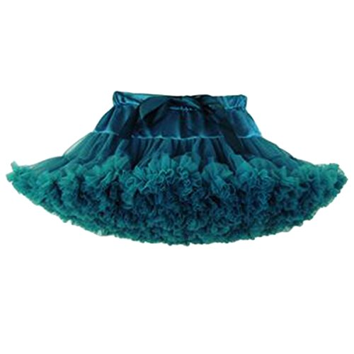50s Mom Costume (Bai You Mei Mommy and Daughter Outfits Multi-layer Ballet Tulle Skirts Party Dance Tutu Skirt Dark Green)