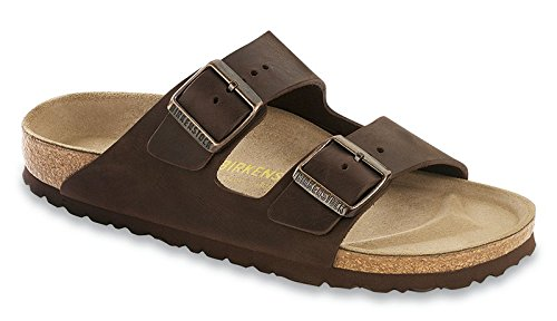 Birkenstock Unisex Arizona Leather Sandals, Brown by Birkenstock