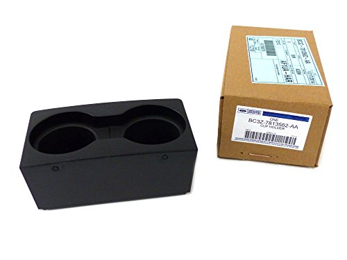 (2011-2015 Ford F250 F350 Super Duty Black Center Console Cup Holder Front)