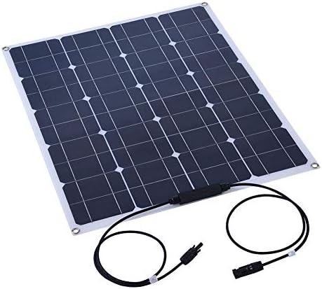 ASHATA Solarpanel, 80W Semiflexibles Solarpanel Monokristallines, leichtes Shell-Solarmodul-Batterieladegerät für Heim/Boot/Yacht/Wohnmobil/Kabine/Zelt/Auto