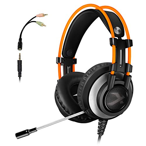 ArkarTech K9 Gaming Headset for Xbox One PS4 PC, Noise Canceling Over Ear Headphones with mic, Stereo Bass Surround for Laptop, Smartphones, Switch Games