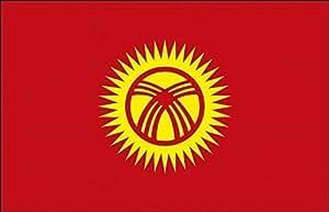 Deko Bandera–kirgistan–Talla aprox. 150x 90cm–80082–Decoración de países Bandera