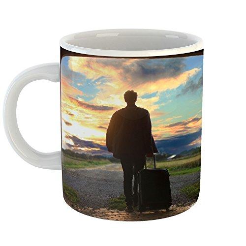 Westlake Art - Man Shadow - 11oz Coffee Cup Mug - Modern Picture Photography Artwork Home Office Birthday Gift - 11 Ounce (CA73-B6B18)