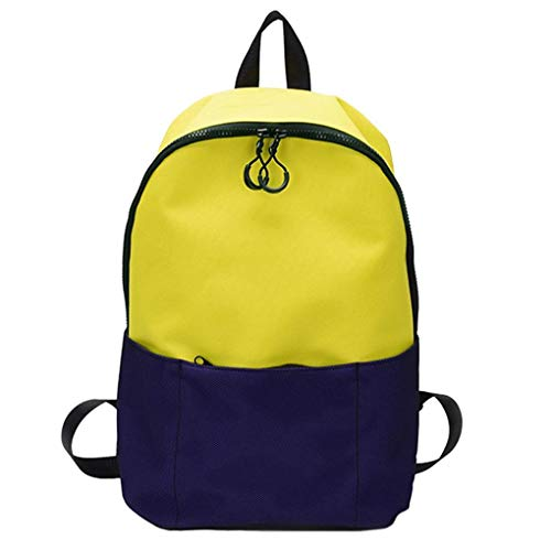 Clearance Students Backpack Rakkiss Students Shoulder Bag School Bag Tote Canvas Solid Color Backpack (Miu Bags Miu Designer)