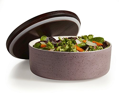 Libbey Urban Story Large, Purple Ceramic Bowl with Lid by Libbey (Image #3)