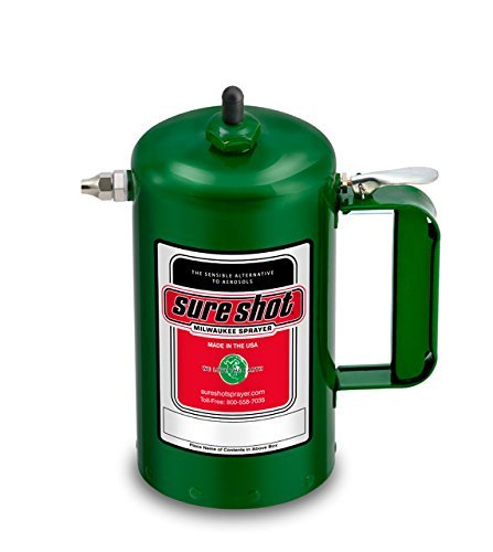 Paint Cans Steel (Sure Shot A1000G Sprayer Steel Interior, Green Exterior, 32 oz Capacity)