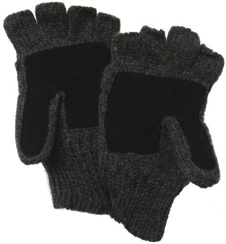 Klondike Sterling Wool Thinsulate Fleece Lined Glomit Fingerless Half Gloves iPhone (Suede Vintage Gloves)