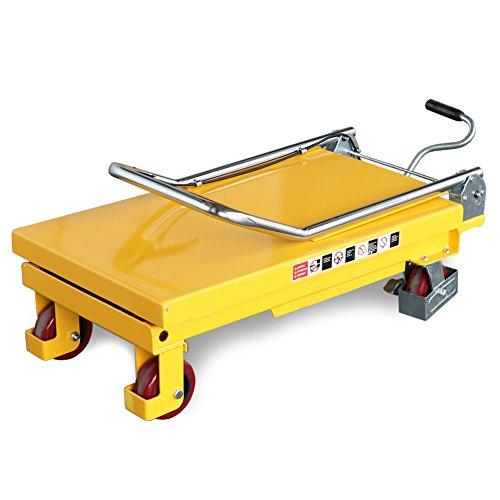 750 mm Hubh/öhe 740 x 450 mm Plattform Fahrbarer Hubtisch 150 kg