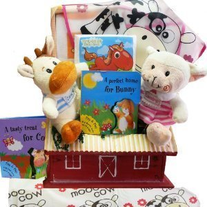 Fun on the Farm Baby Gift Basket for Boys or Girls