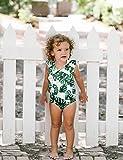 Newborn Baby Girls Swimsuit Leaf Print Swimsuit