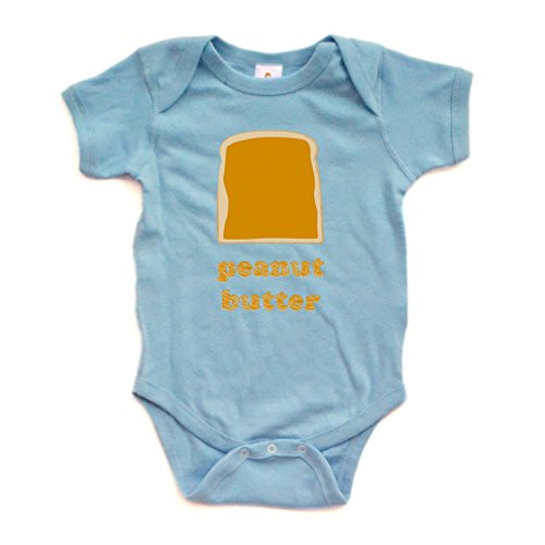 Funny Twins or Halloween Baby Bodysuit Peanut Butter (Goes With Jelly) Soft Cotton