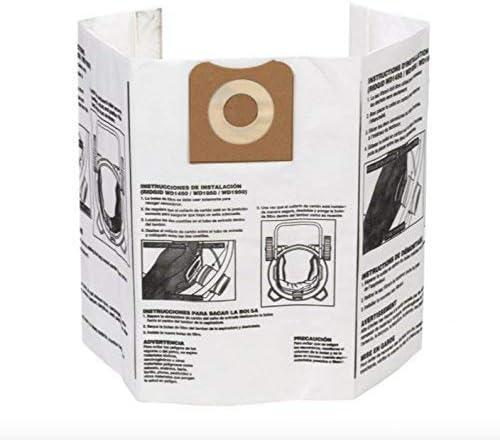 2 X Pack of 2 Ridgid VF3502 High Efficiency Dry Pickup Dust Bags for 12-16 Gallon Ridgid Wet//Dry Vacuums