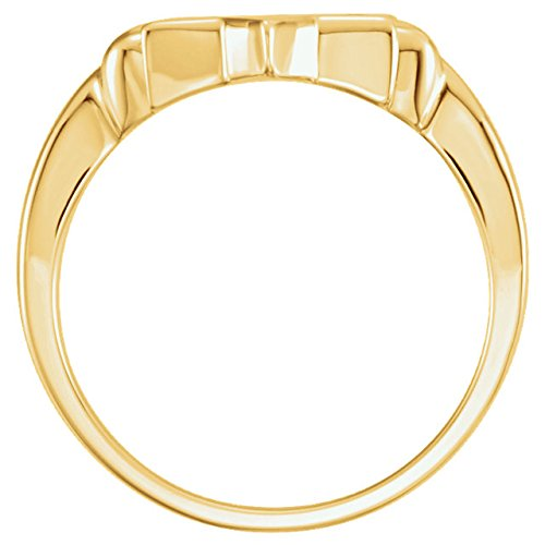 14k Yellow Gold Star of David 12mm Ring, Size 8 by The Men's Jewelry Store (Unisex Jewelry) (Image #2)