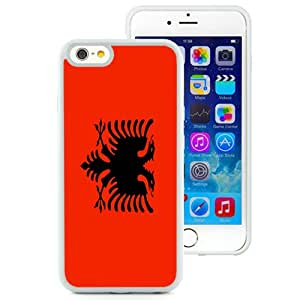 Beautiful Unique Designed Cover Case For iPhone 6 4.7 Inch TPU With Albania Flag White Phone Case