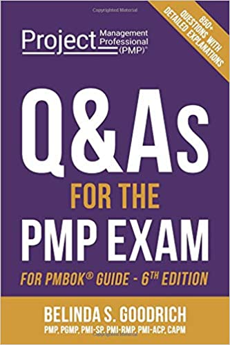 Amazon com: Q&As for the PMP® Exam: For PMBOK® Guide, 6th