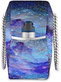Mens Bags Travel Colorful Galaxy Star And Nebula Universe Traveling Bag Beach Tote 20.5 X 7.3 X 15 Inch Zipper Closure With Cotton Handle For Picnics Travel Vacations