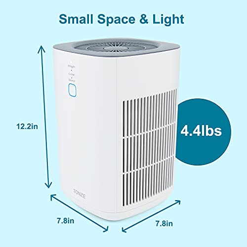 HEPA Air Purifier - Smoke Air Purifiers for Home Bedroom and Office with Sponge, Ultra-Silent Air Cleaner for 99.97% Allergies, Smoke, Dust, Pollen, Pet Dander