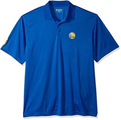 Levelwear LEY9R NBA Golden State Warriors Adult Men Dart Helium Ii Mens Polo, Large, Royal Blue