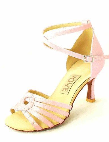 ShangYi Customizable Women's Dance Shoes Latin/Salsa Satin Customized Heel Black/Blue/Yellow/Pink/Purple/Red/White/Fuchsia Pink umMNpXQ6tW