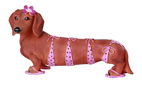 Halloween Costumes For Doxies (Pacific Giftware Adorable Bikini Beauty Doxy Collectible Wiener Dog Dachshund)