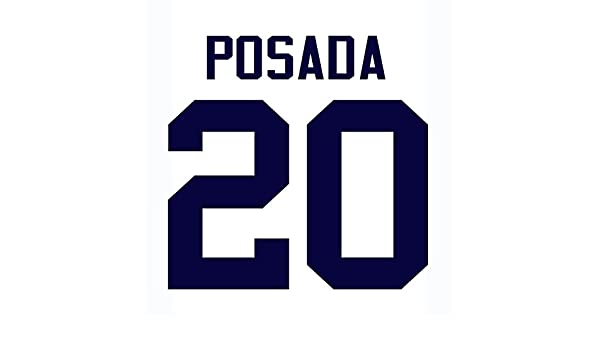 Jorge Posada New York Yankees Jersey Number Kit 30fa71991de
