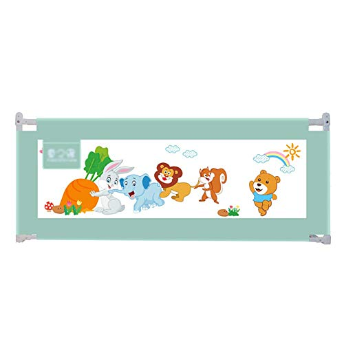 Baby Bed Rail, Extra Tall 88cm Portable Folding Bed Guard for Toddlers, Safety Side Rail Heigh Adjustable (Size : 220cm)