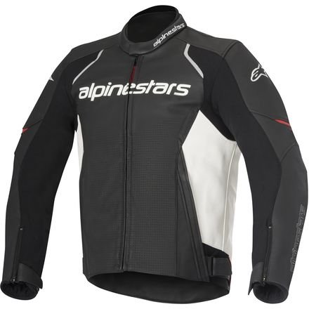- Alpinestars Men's Devon Airflow Black/White Leather Jacket, 54