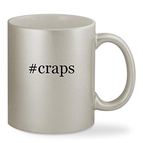 #craps - 11oz Hashtag Silver Sturdy Ceramic Coffee Cup Mug