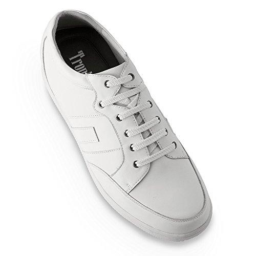 Masaltos Chaussures Réhaussantes Pour Homme avec Semelle Augmentant la Taille Jusqu'À 7cm. Fabriquées en Peau. Modèle Ibiza B Blanc elbthpud
