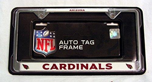 (Rico Arizona Cardinals NFL Chrome Metal License Plate Frame)