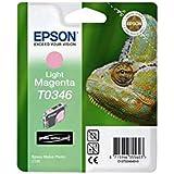 Epson T0346 - Cartucho inyección de tinta, 17 ml, 1.040 páginas, color magenta claro