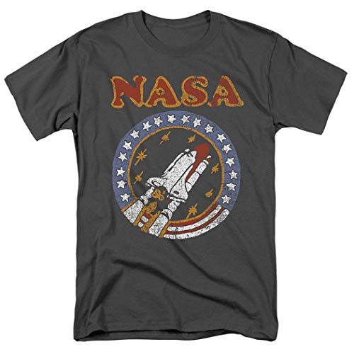 - Popfunk NASA Retro Space Shuttle T Shirt & Exclusive Stickers (X-Large) Charcoal