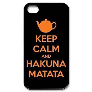 iPhone 4S 4 case Keep Calm Customized Back Protective Cover Case for Apple iPhone 4S and iPhone 4