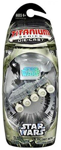 Star Wars, Titanium Series Die-Cast, Clone Turbo Tank (Arctic), 3 Inches ()
