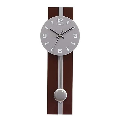 TWDRF Rectángulo Relojes de Pared Mute Craft Personalidad Arte Creativo Moderno Reloj de péndulo