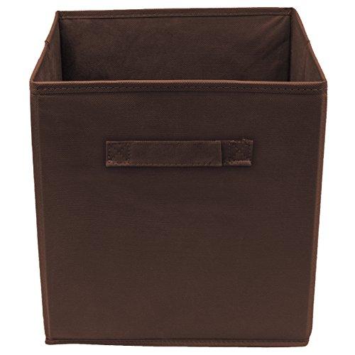 Sorbus Foldable Storage Cube Basket Bin 1 Pack Chocolate