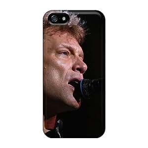 Iphone 5/5s XKT17581MmPv Provide Private Custom Vivid Bon Jovi Band Pictures Perfect Hard Phone Case -KennethKaczmarek