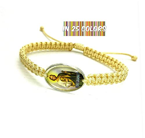San Judas Tadeo Bracelet, St Jude Thaddeus Medal, Mens Womens Catholic Saint Bracelet