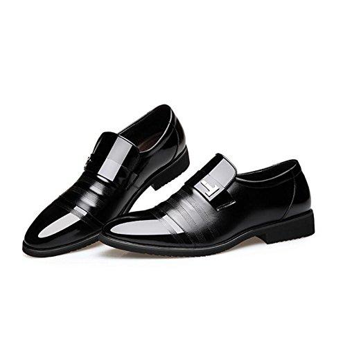 Casuales Desgaste Black En Zapatos Calzado De Moda Dentro Al Inglaterra Koyi Negocios Resistente Aumentar 1 Antideslizante De Cómodo Hombre qwa0fCS