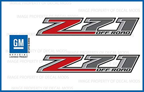 (Chevy Silverado Z71 Offroad Truck Stickers Decals - F (2014-2017) Bedside (Set of 2))