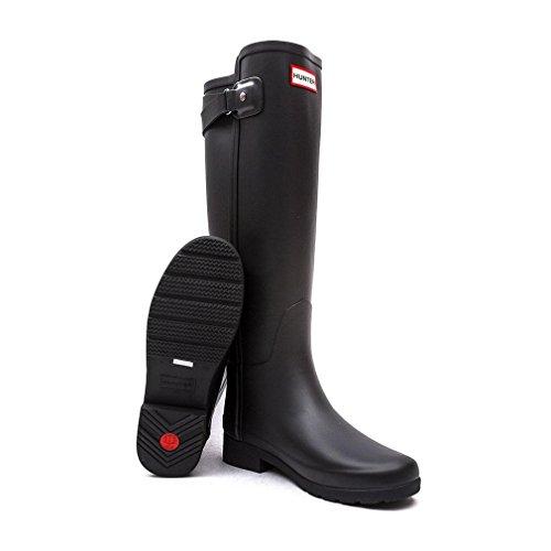 Hunter Ladies' Original Refined Back Strap Wellington Boots - Black - 8