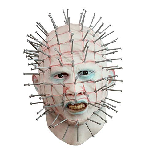 Halloween Mask Horror Movie Hellraiser Scary Pinhead Masks Grimace Monster Adult Cosplay Realistic Latex Party Masks -