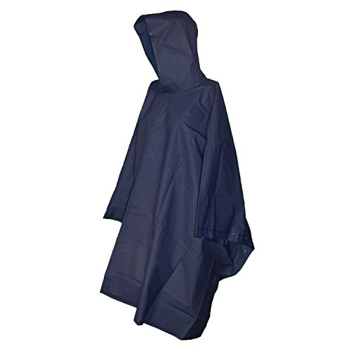 Raines Adult Rain Poncho featuring Pullover Design and Side Snaps, Includes Mesh Carry Case, Dark Blue, (Heavy Duty Rain Poncho)